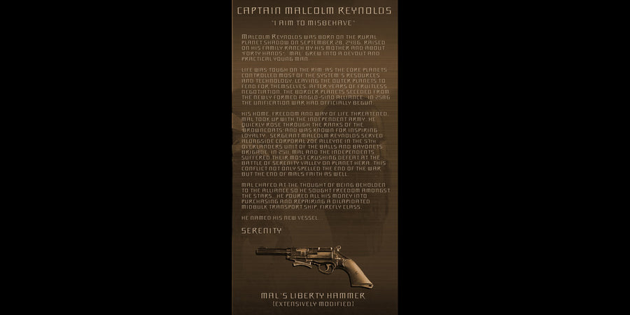 Firefly Serenity Captain Malcolm Reynolds and Crew Geekograph Limited Edition Metal Art
