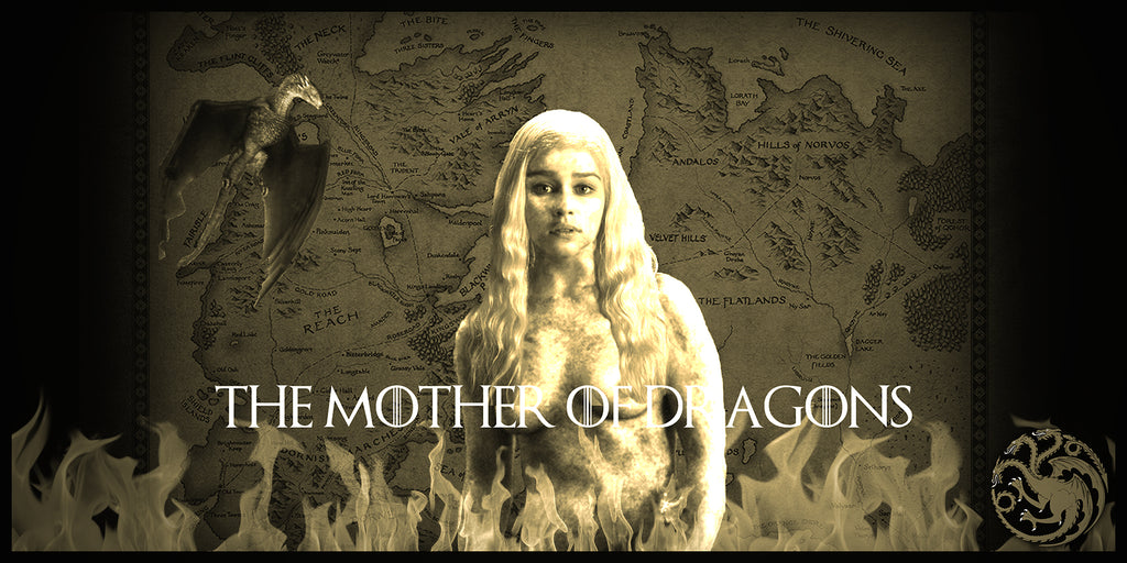Game of Thrones Mother of Dragons Geekograph Limited Edition Metal Art