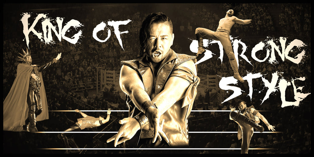 Shinsuke Nakamura King of Strong Style WWE Smarkograph Limited Edition Metal Art
