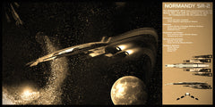 Mass Effect Normandy SR-2 Limited Edition Geekograph Metal Art