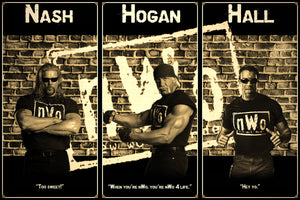 nWo Hogan Hall Nash Smarkograph Limited Edition Metal Art