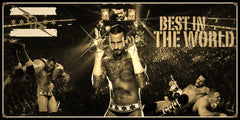 CM Punk Smarkograph Limited Edition Metal Art