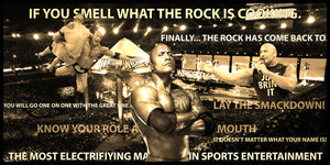 The Rock Dwayne Johnson WWE Smarkograph Limited Edition Metal Art