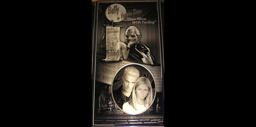 Buffy the Vampire Slayer Once More With Feeling Musical Geekograph Metal Art Triptych Panel
