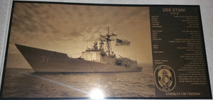 USS Stark Geekograph Limited Edition Metal Art