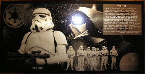 Star Wars Stormtrooper TK-421 Customizable Limited Edition Geekograph Metal Art