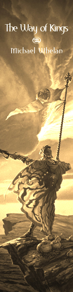 "Michael Whelan's ""The Stormlight Archive"" Illustrations Bookograph Metal Bookmark"