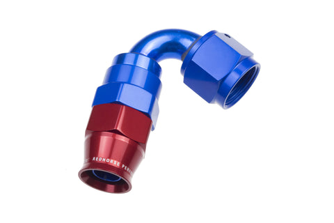 -04 AN 120 Degree PTFE reusable  Hose End - Blue