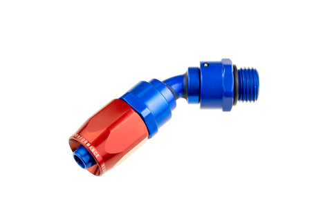 '-06 Hose End With -06 ORB End (45°) TUBE - Red&Blue