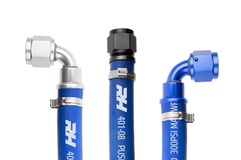 '-10 401 Series Blue Push Lock Hose - 3 feet