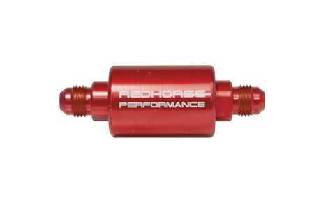 -08 inlet -08 outlet AN high flow fuel filter - Red