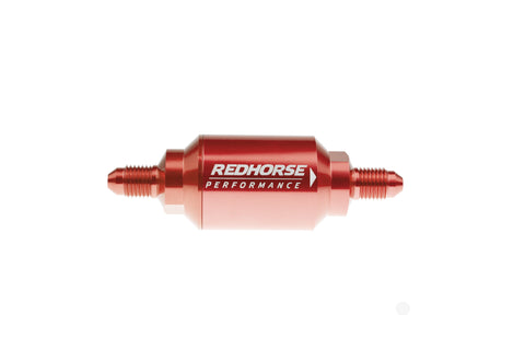 -04 inlet -04 outlet AN One Way Check Valve - Red