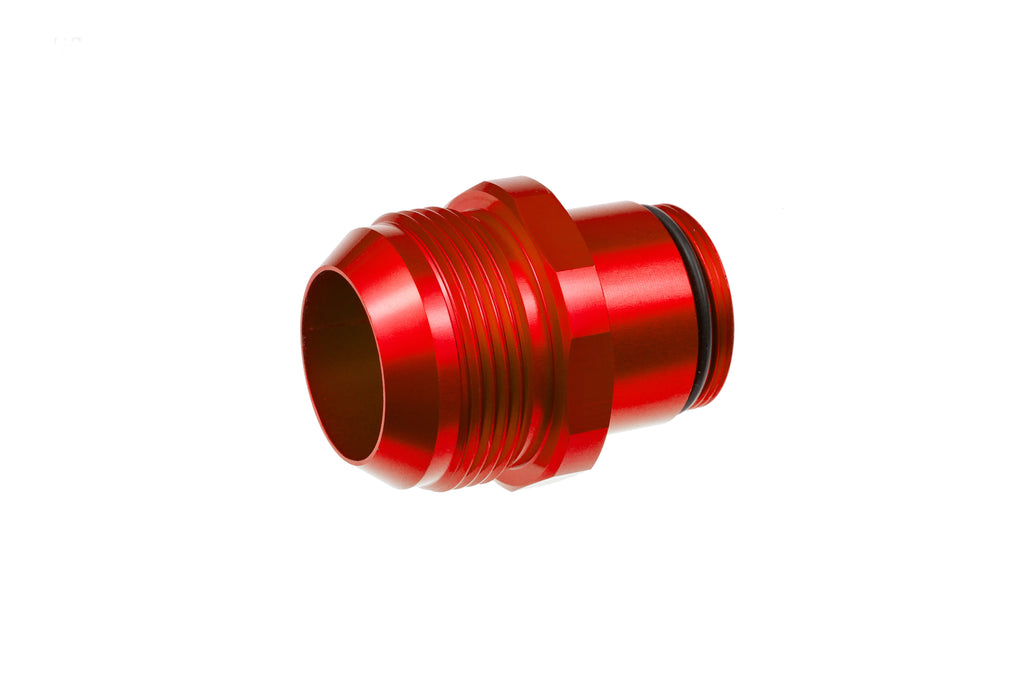 -20 AN male water neck adapter - red