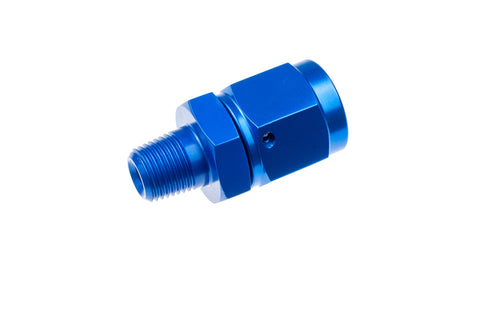 -06 AN female swivel to 1/8NPT male adapter, straight- blue