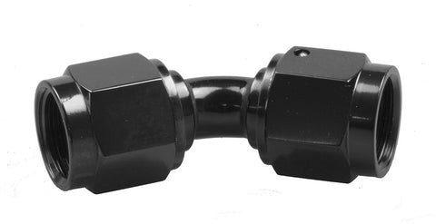 -10 Female to Female AN/JIC Female Swivel Coupling - 45 Degree - Black