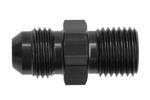 -08 Male AN/JIC Flare to M10x1.0 Inverted Adapter - Black