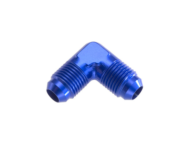 '-04 Male 90 Degree AN/JIC Flare Adapter - Blue