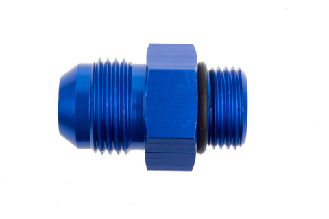 -08 Male to -08 O-Ring Port Adapter (High Flow Radius ORB) - Blue