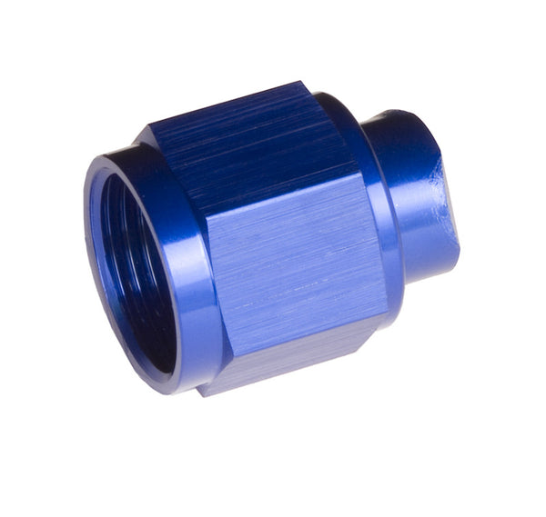 -08 two piece AN/JIC Flare cap Nut - Blue