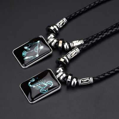 Angyape pendentif collier galaxie Constellation Design 12 signe du zodiaque Horoscope astrologie