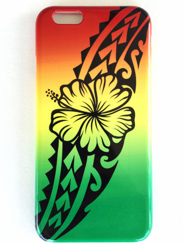 Rasta Hibiscus Phone Case