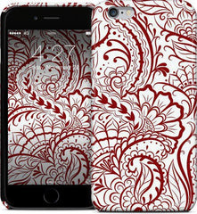 Mehndi Doodle Red Phone Case