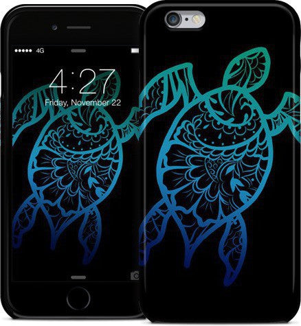 Mehndi Honu Black Phone Case