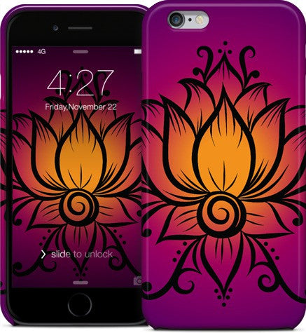 Swirl Lotus Purple Phone Case