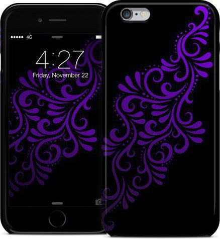 Mia Swirlys Purple on Black Phone Case
