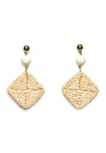 HANDCRAFTED CANE DROP EARRINGS  (SQUARE)