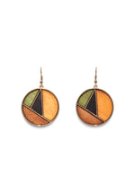 HOOK MULTI COLOR ROUND EARRINGS