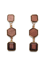MULTI SHAPE WOODEN EARRINGS