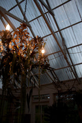 Chandelier inside greenhouse