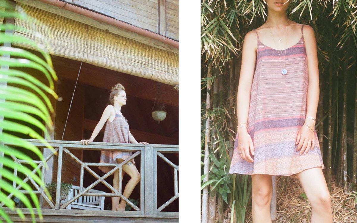 stripe dress balcony bali