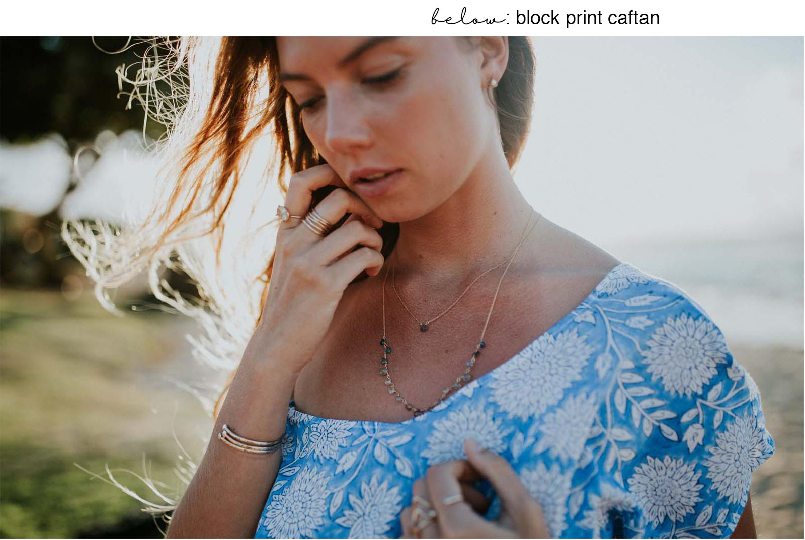 summer caftan dress
