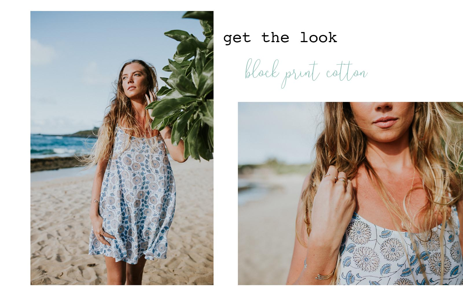 block print beach cover up