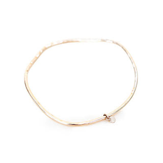 14k Ti Leaf Bangle