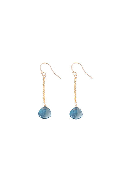 14k Drop Earrings - Fluorite