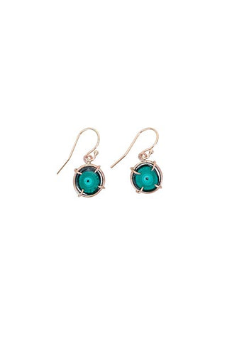 Malachite Stalactite Slice Earrings