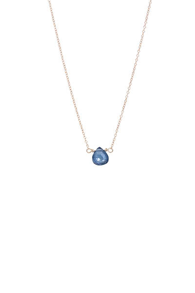Single Stone Necklace - Sapphire