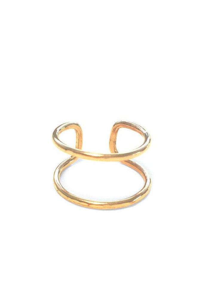 wings hawaii jewelry ring knuckle midi adjustable band simple minimal gold sterling silver minimalist hammered double two