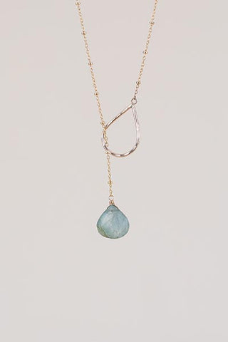 Lariat Necklace - Aquamarine