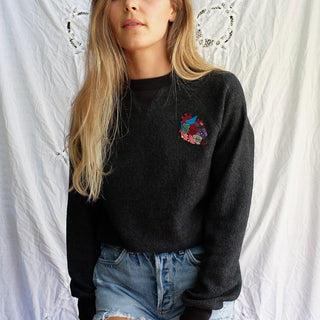 eco fleece super soft pullover sweatshirt anatomical heart patch lounge wear womens ladies gals comfy clothes wings hawaii