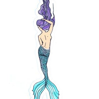 wings hawaii mermaid sticker purple blue beach girl maui