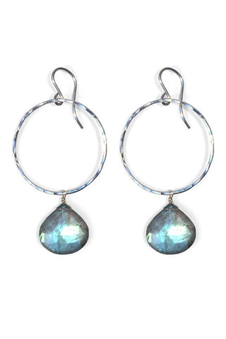 Labradorite Full Circle Earrings - Wings Hawai'i