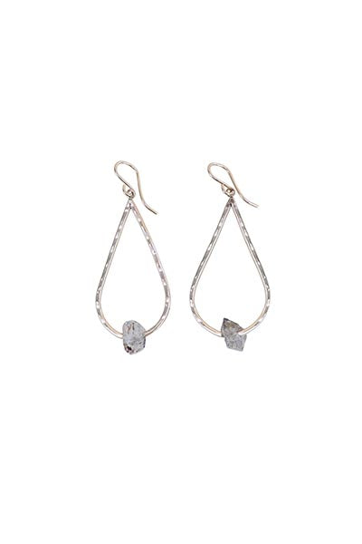 Herkimer Tear Drop Earrings