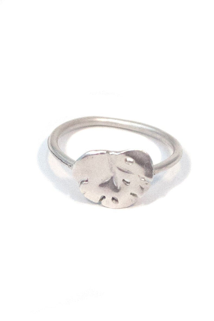 wing hawaii jewelry monstera leaf ring sterling silver jungle plant flora island tropical female girl women handmade original unique leaves flower
