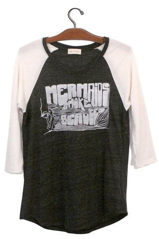 Mermaids Smoke Seaweed Eco-Jersey Raglan - Wings Hawai'i