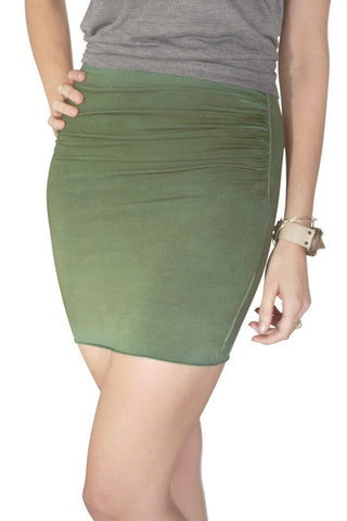 Shirred Mini Skirt - Wings Hawai'i