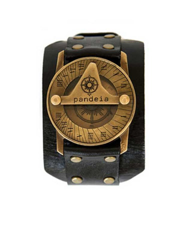 Kane Obsidian Pandeia Sundial Compass Watch - Wings Hawai'i